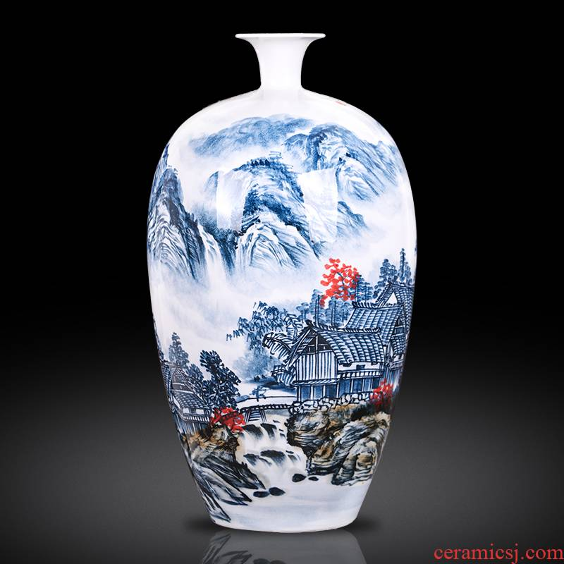 The Master of jingdezhen ceramics hand - made creative new Chinese blue and white porcelain vase sitting room porch decoration furnishing articles