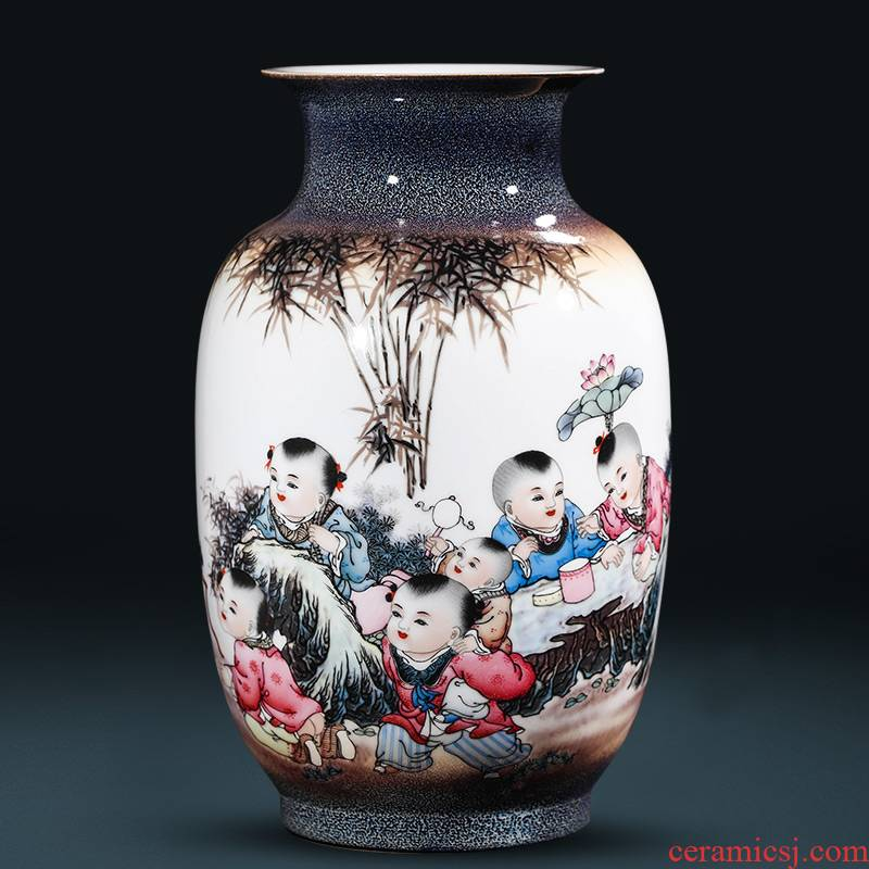 """Creative jingdezhen ceramics up with tong qu """"bamboo forest"""" vase Chinese style household adornment handicraft furnishing articles"""