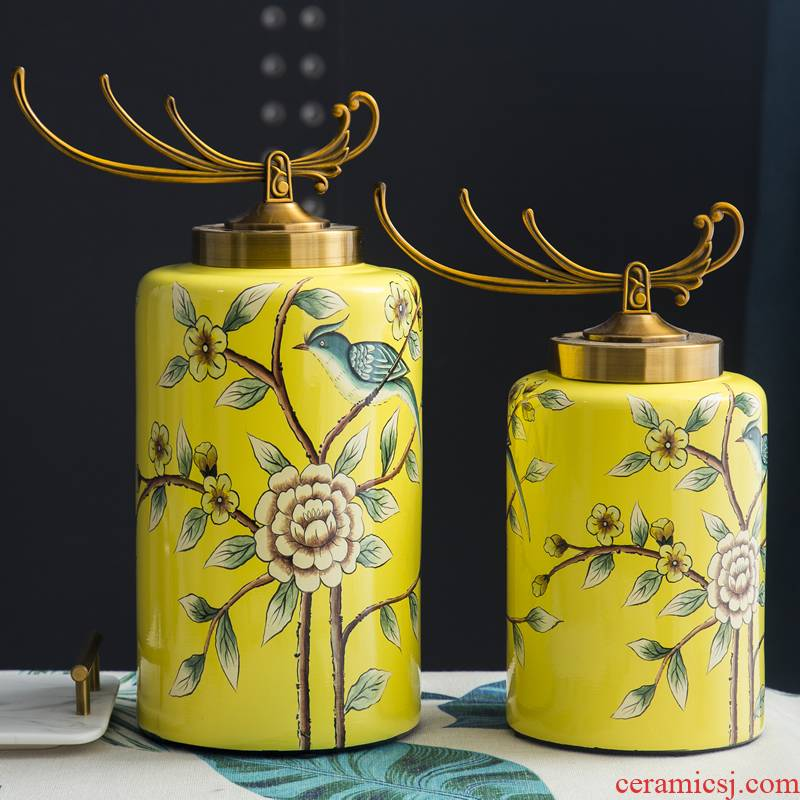 American ceramic decoration tank storage tank furnishing articles European household act the role ofing is tasted originality example room sitting room porch decoration