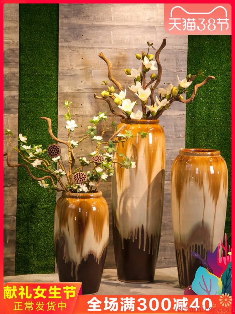 Restaurant floor of sitting room villa large vase study flower vases, flower implement ceramic decorations hall furnishing articles