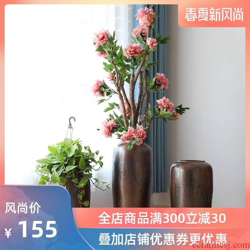 Jingdezhen ceramic new Chinese style of large vases, the sitting room porch flower arranging other TV ark, flower, adornment is placed