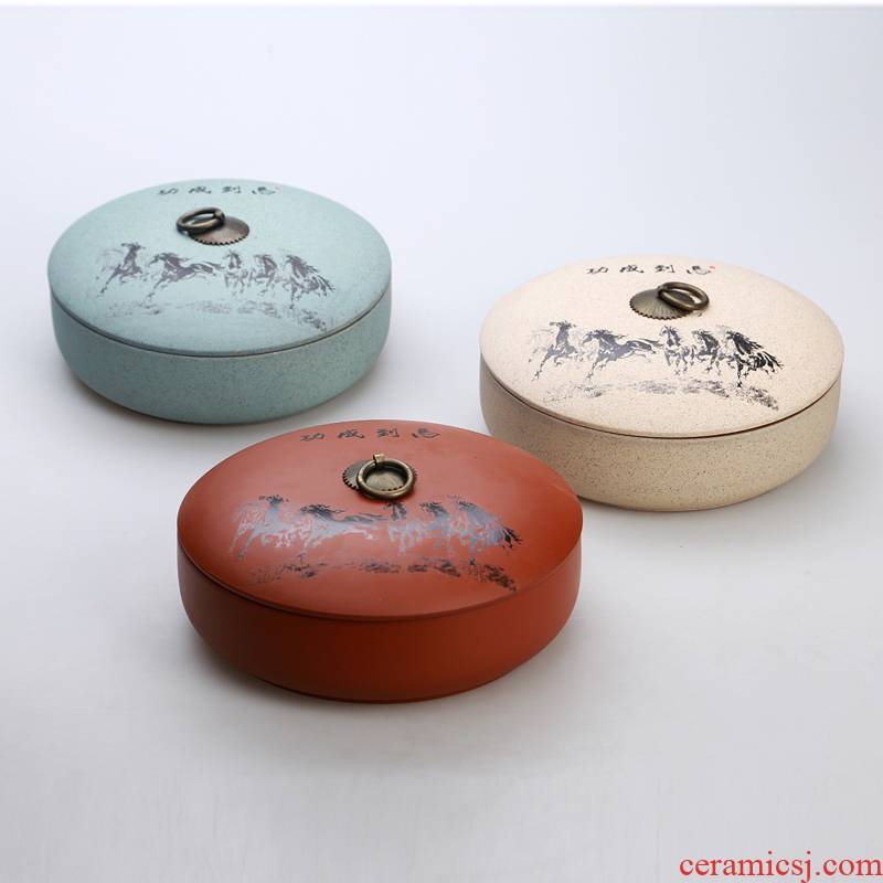 Hin reputation | ceramic coarse TaoPuEr bread violet arenaceous caddy fixings sealed store large ceramic tea tea pot tins
