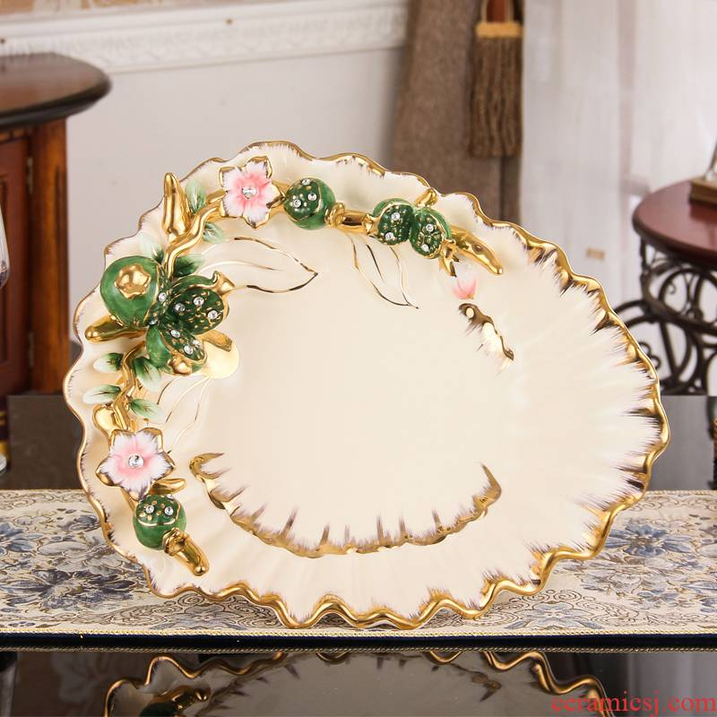 Fort SAN road ceramic fruit bowl European - style compote household modern creative home sitting room tea table decoration furnishing articles compote