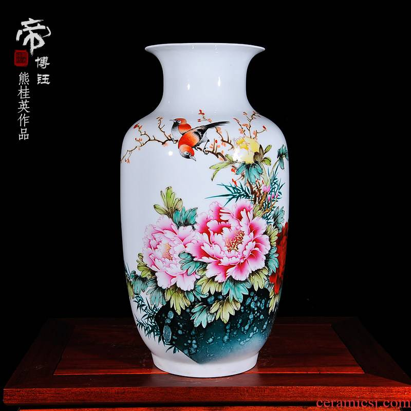 The Master of jingdezhen ceramics hand - made enamel vase modern home decoration decoration crafts are sitting room