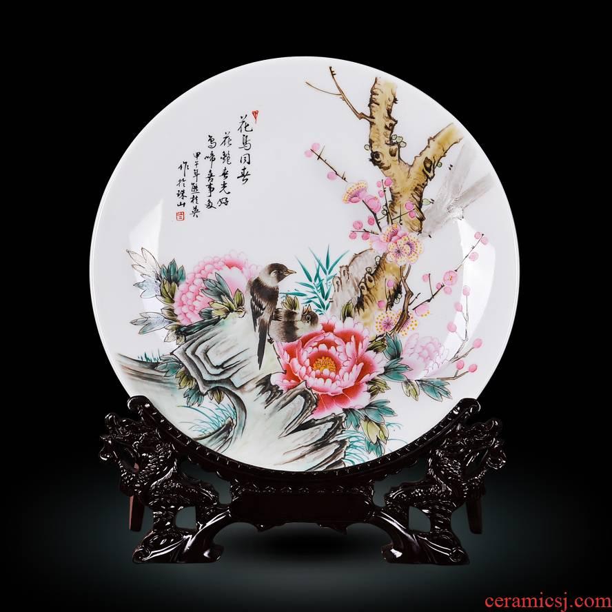 Jingdezhen ceramic Xiong Guiying hand - made powder enamel and hi hang dish I and fashionable adornment creative crafts