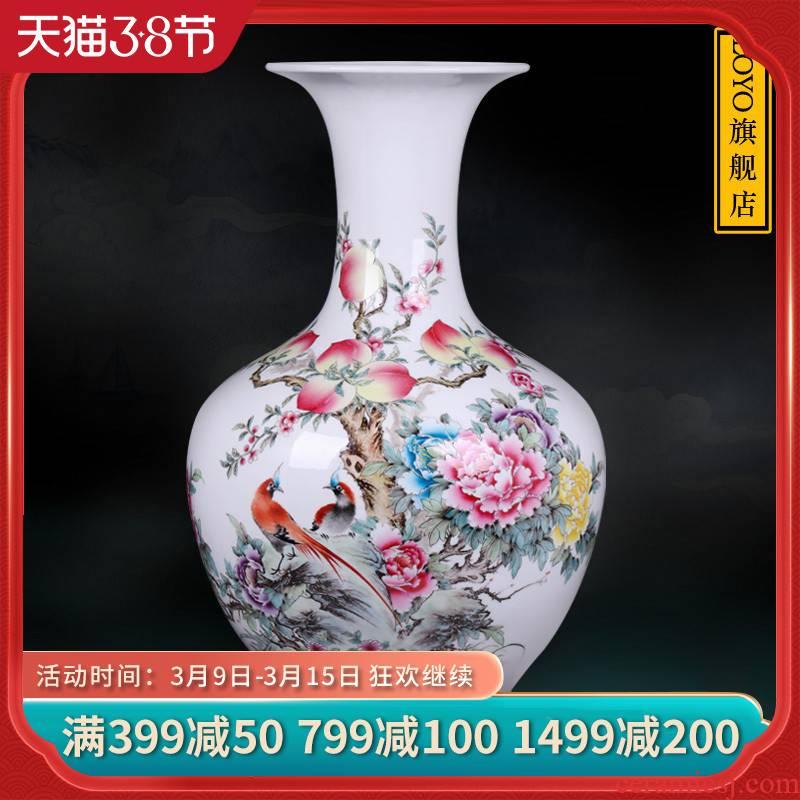 Jingdezhen ceramic hand - made antique vase live long and proper TV ark, mesa of flower arrangement sitting room adornment is placed