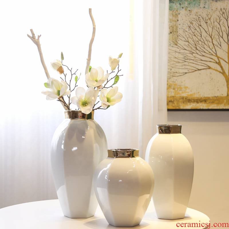 Jingdezhen new Chinese style light TV ark, porch is decorated key-2 luxury mesa vase furnishing articles sitting room simulation flowers, dried flowers, flower arrangement