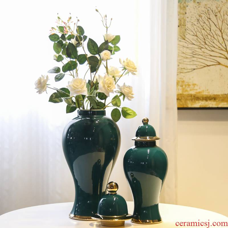 Jingdezhen ceramic general tank piggy bank between example hotel restaurant decorative vase flowers, flowers in the living room furnishing articles