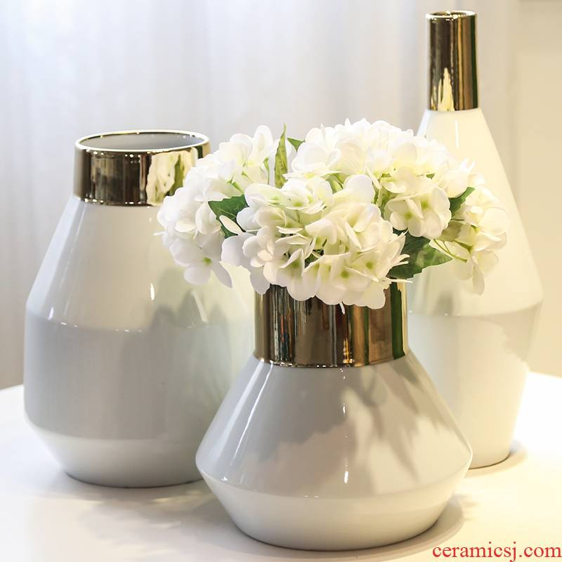 New Chinese style is light and decoration vase of jingdezhen ceramic flower decoration in the sitting room between household soft outfit flower implement example simulation flowers