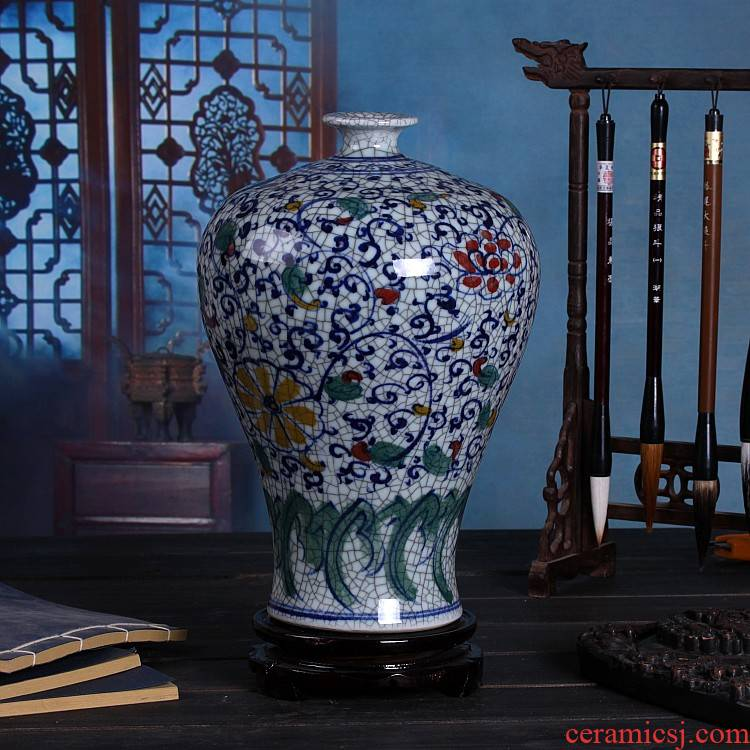 Archaize of jingdezhen ceramics decoration under the glaze color blue and white porcelain vases, hand - made the design furnishing articles