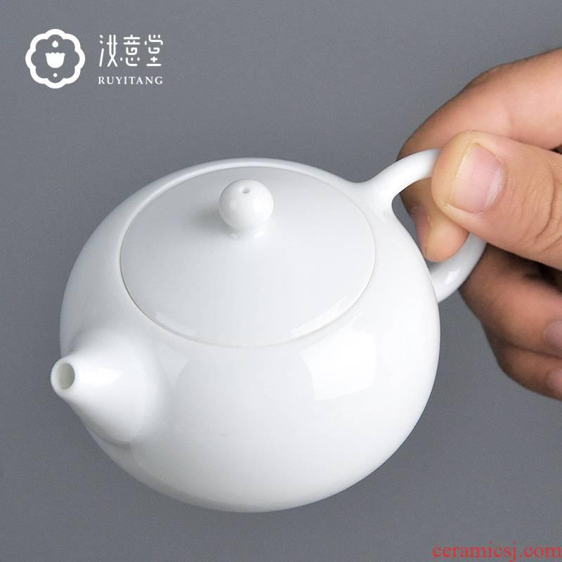 Jingdezhen ceramic tea set from the single pot of white porcelain teapot xi shi pot small mini antique Chinese teapot