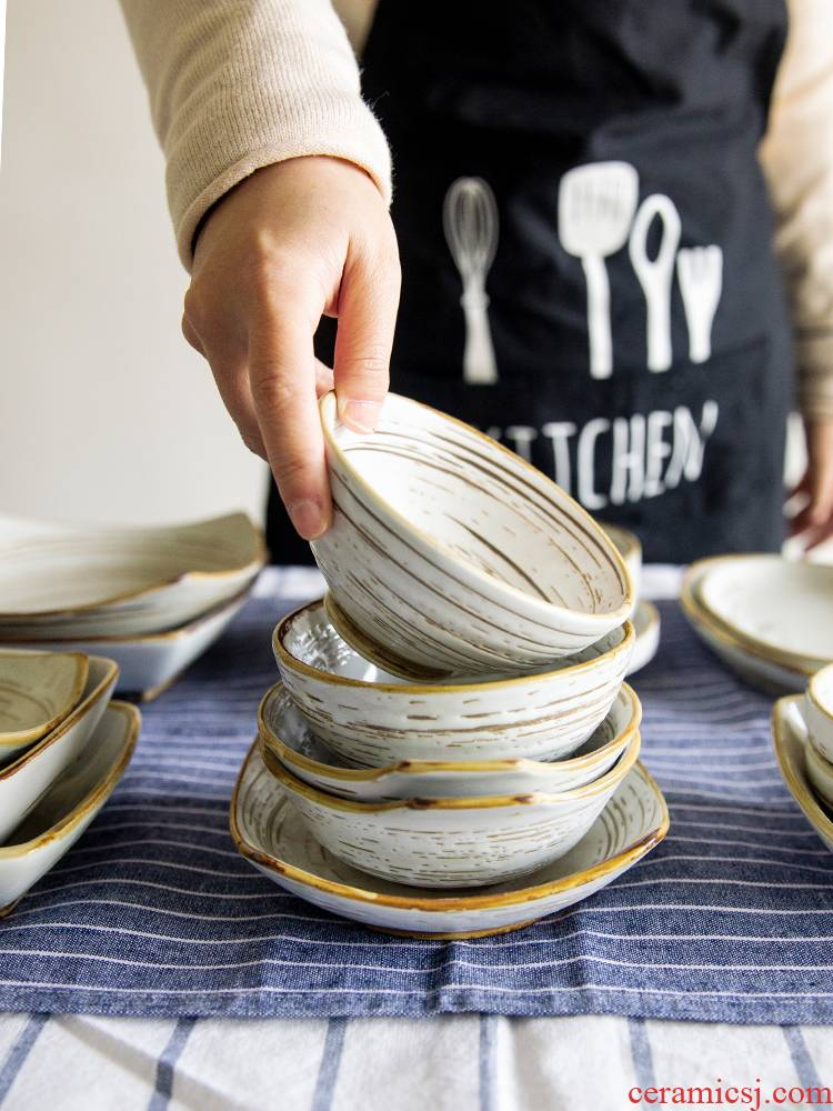 And the wind under the four seasons of thread disc move tableware glaze color dessert plate the nut plate household creative dishes