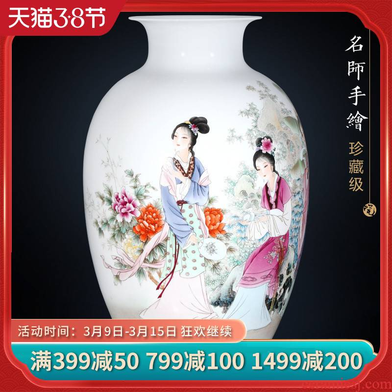 Jingdezhen ceramic furnishing articles dong - Ming li hand - made his home sitting room porch flower arrangement craft your kindness vase