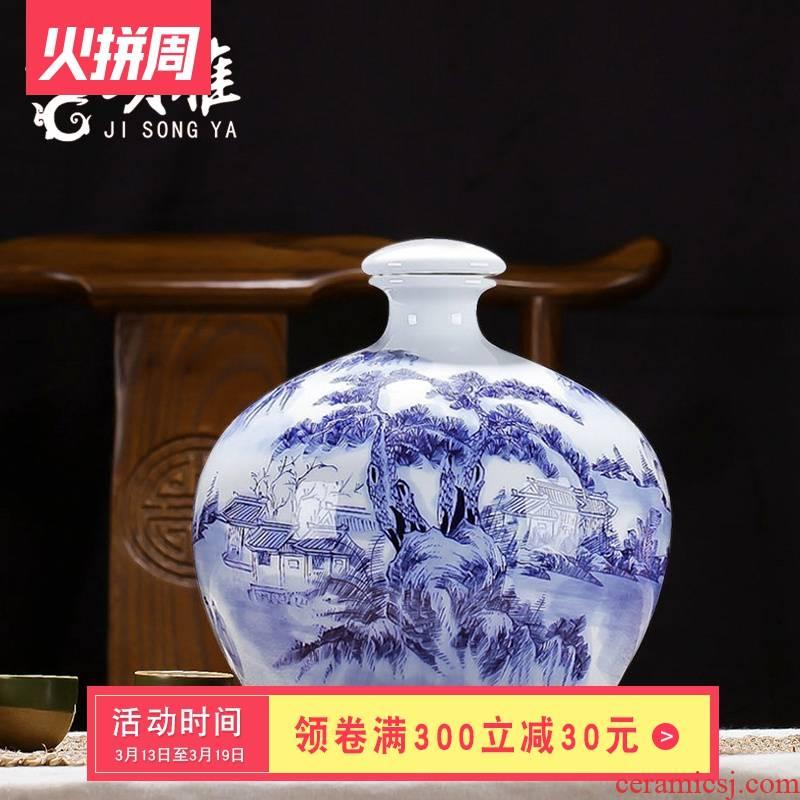 Hand - made scenery 5 jins of 10 jins ceramic jar bottles medicine bottle wine bottle sealed bottles