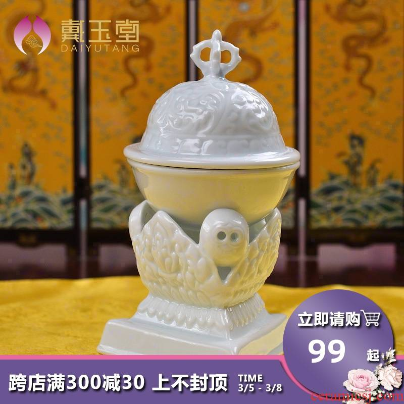 Yutang dai dehua white porcelain with sect Buddhism consecrate Buddha toba multiplier empowerments cranial device for kapala bowl