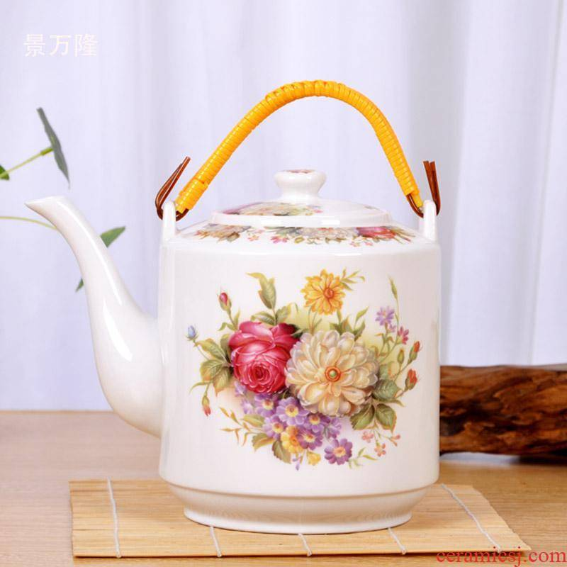 Jingdezhen ceramic household high - temperature cool teapot CiHu cool summer girder are large capacity filter explosion - proof kettle