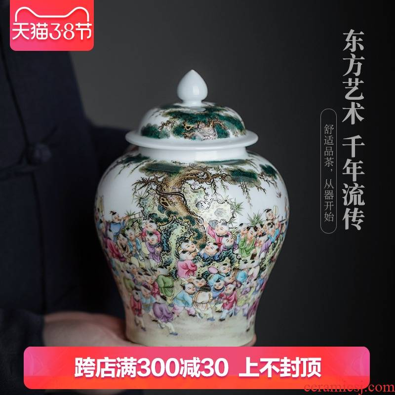 Jingdezhen ceramic hand - made all the ancient philosophers graph caddy fixings seal tea to wake POTS decoration handicraft furnishing articles
