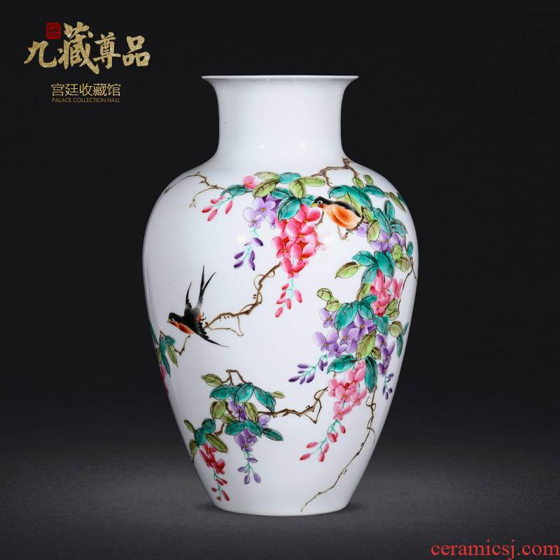 Jingdezhen ceramics vase hand - made pastel sabingga sukdun dergici jimbi painting of flowers and bottle of home sitting room collect adornment
