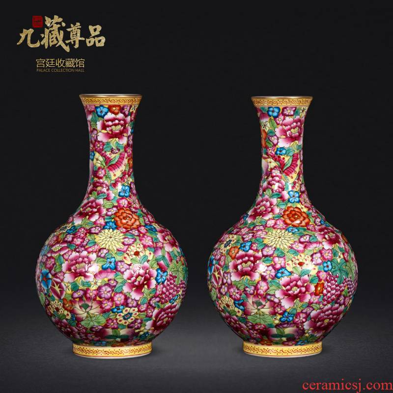 Floret bottle mini colored enamel principal jingdezhen ceramic flower implement furnishing articles retro hand - made household decorate gifts
