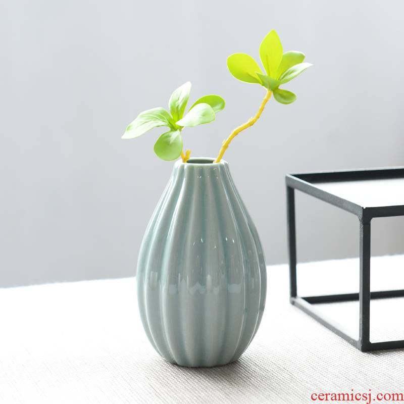 Modern small pure and fresh and vase celadon white household sitting room adornment is furnishing articles other hydroponic flower receptacle
