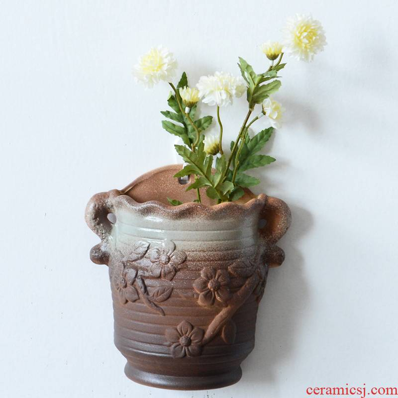 Hanging Hanging metope ceramic flower pot without hole, hydroponic shop z creative hang a wall flower basket Hanging the plants