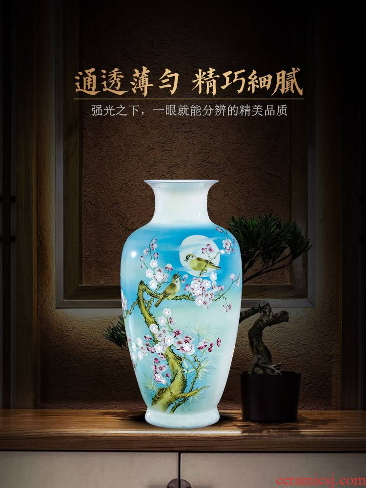 Jingdezhen ceramics hand - made vases, flower arrangement of Chinese style home sitting room adornment TV ark place wedding gift