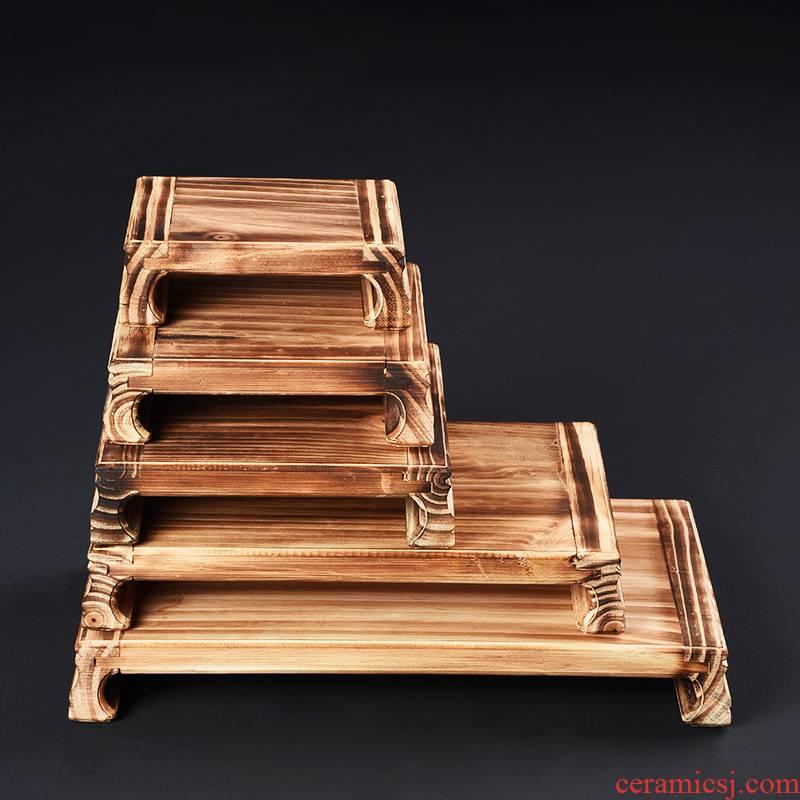 Solid wood base wooden shelf