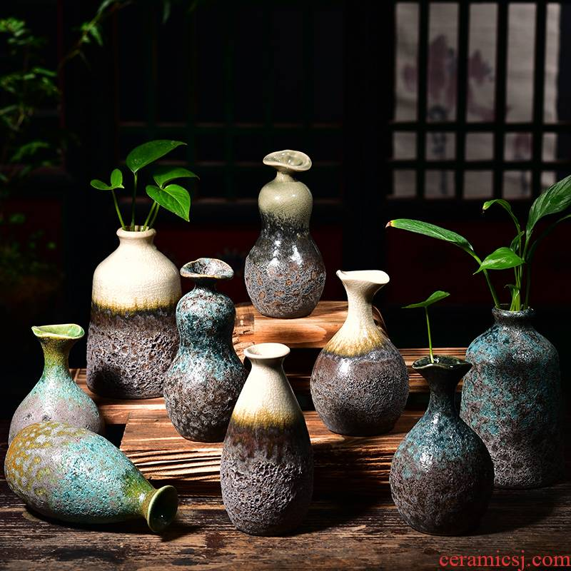 New Chinese style ceramic glaze vase household household decorative dried flowers flower furnishing articles other arranging flowers hydroponic flower pot ceramics