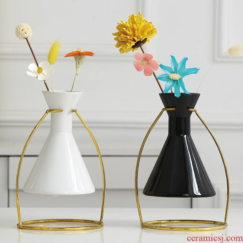 Nordic floret bottle furnishing articles wind dried flowers adornment flower arrangement sitting room table, TV ark, household ceramics decoration ideas