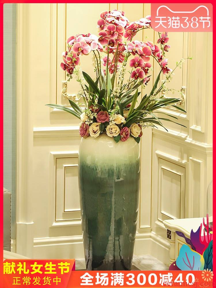 Jingdezhen contracted and I sitting room of large vase hotel ceramic flower flower implement simulation floral arrangements furnishing articles