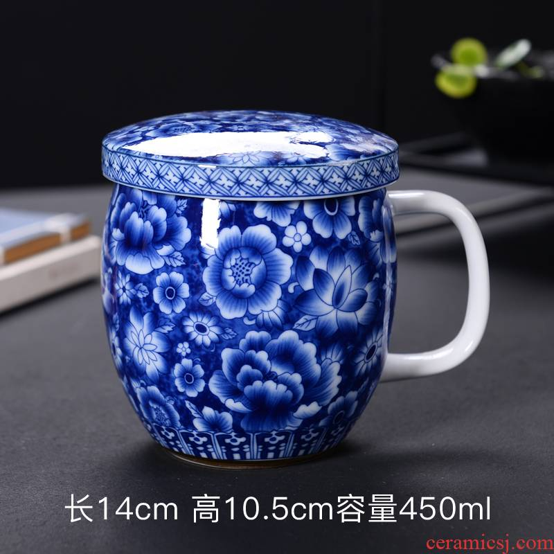 Creative office glass ceramic cup milk to send a cup a coffee cup keller spoon custom breakfast cup with cover
