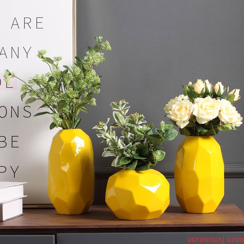 European contracted and I creative decoration decoration flower household ceramic vase furnishing articles sitting room TV cabinet dry flower arranging flowers
