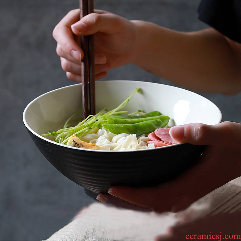 TaoDian mercifully rainbow such use ceramic bowl domestic large dormitory Japanese la rainbow such as bowl bowl of beef noodles in soup bowl [clearance preferential]