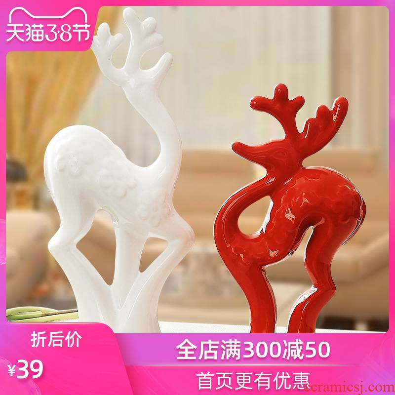 Household act the role ofing is tasted creative decoration ceramics craft a new home decoration furnishing articles wedding gift for wedding gifts sika deer