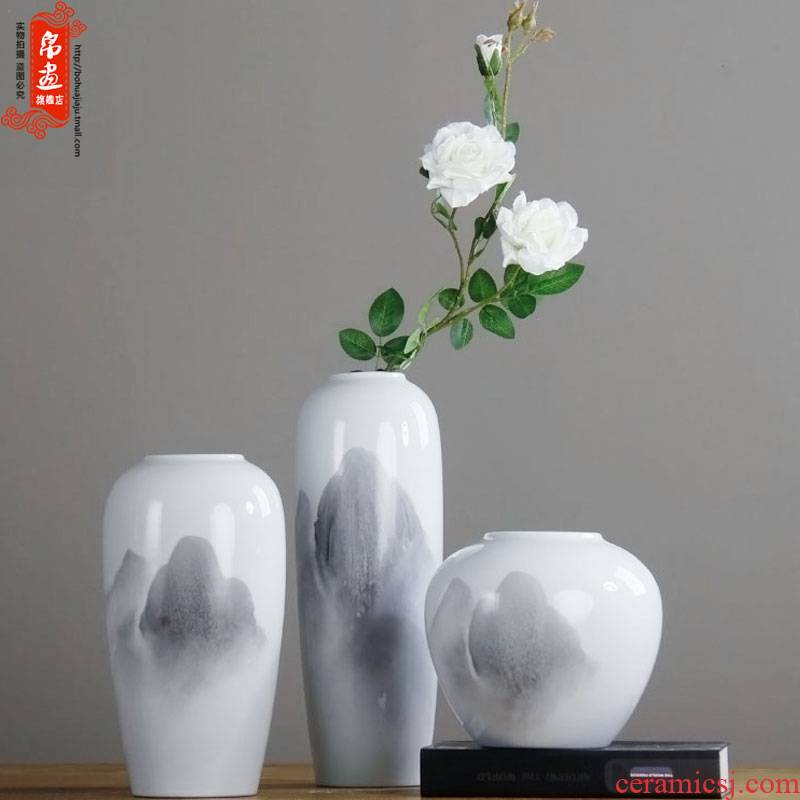 Ceramic vases, I and contracted household dried flower adornment new Chinese flower arranging flowers, flower the sitting room TV ark, furnishing articles