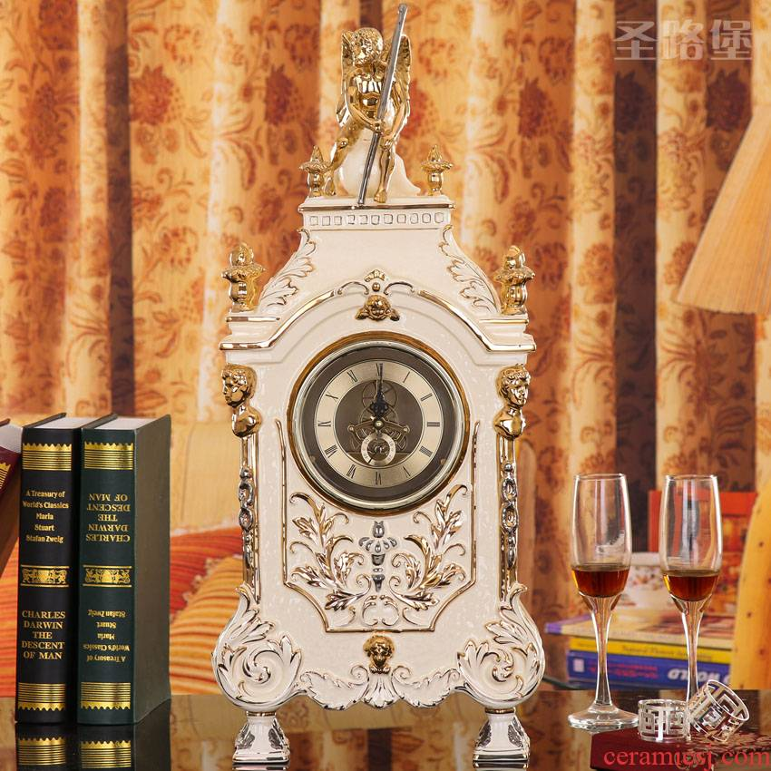 Fort SAN road creative European ceramic clock creative home ACTS the role of clock furnishing articles wall clock sitting room adornment bag in the mail