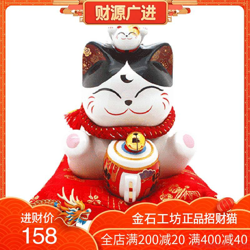 Stone workshop plutus cat ceramic piggy bank home furnishing articles store opening craghack creative gift