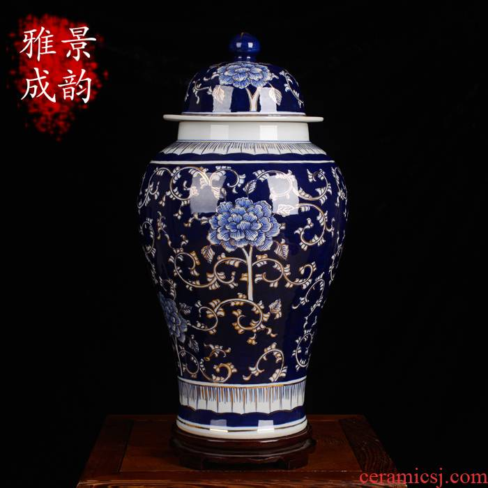 Jingdezhen ceramic vase sitting room place general paint as cans caddy fixings accessories antique blue and white porcelain arts and crafts