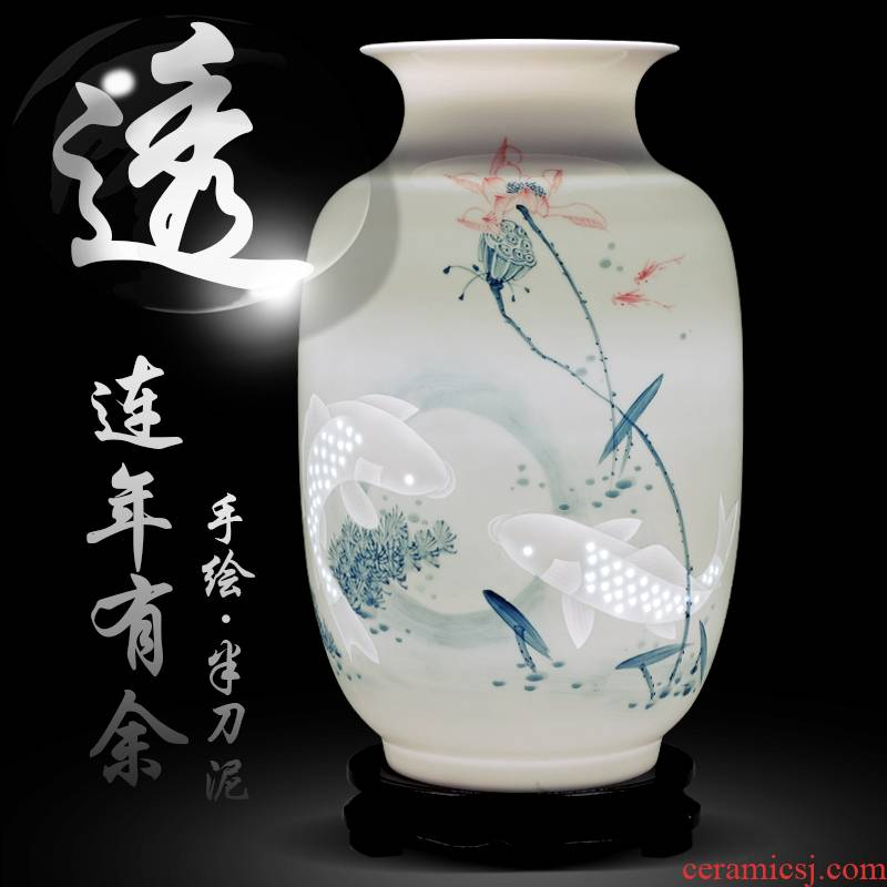 Jingdezhen ceramics hand - made vases in successive years more than sitting room adornment of Chinese style household furnishing articles of blue and white porcelain gifts