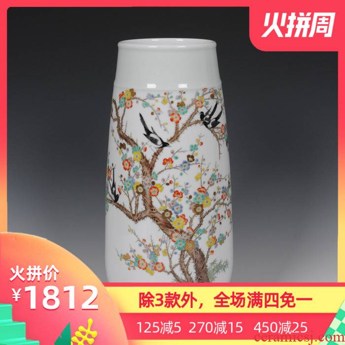 Mesa of jingdezhen ceramic vase household act the role ofing is tasted famous masterpieces hand - made vases Zhang Bingxiang pay-per-tweet vase