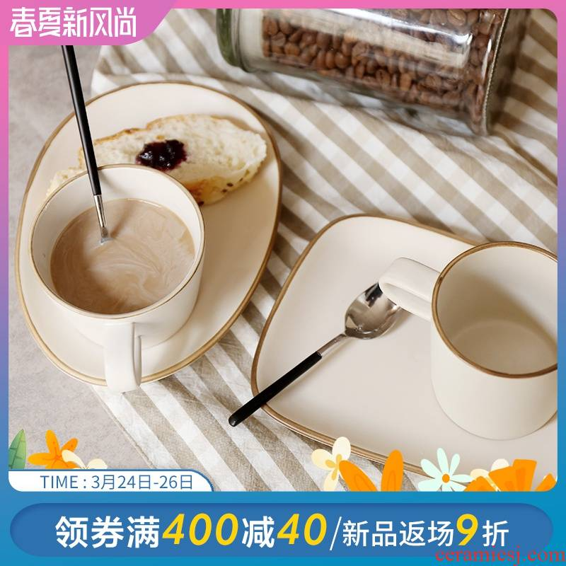 Pongsapat eons of time restoring ancient ways suit creative ceramic cup plate'm Japanese breakfast cup of coffee cup thick ceramic cup