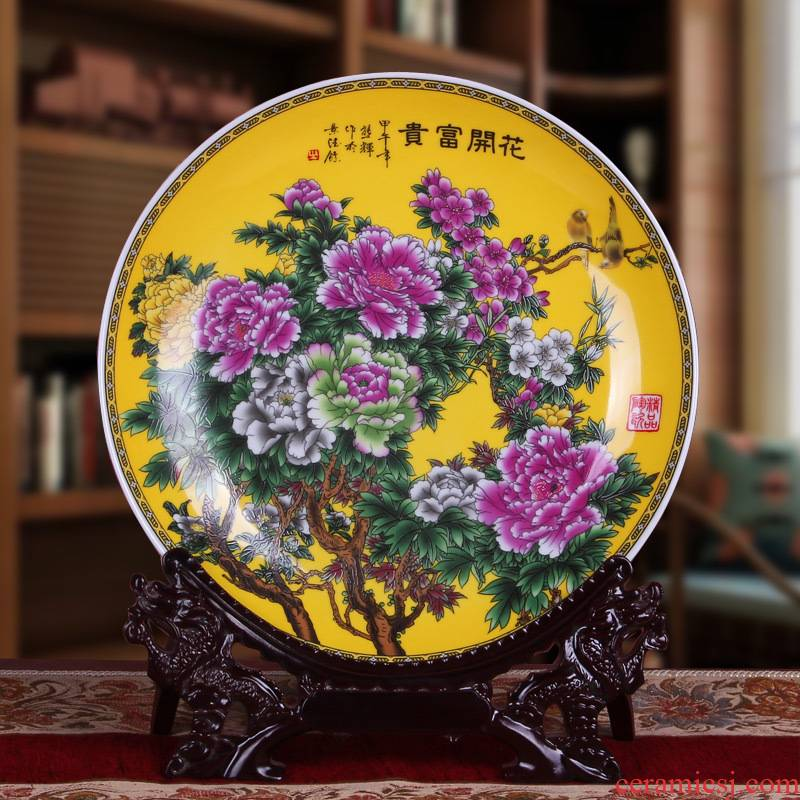 Jingdezhen dining - room metope adornment ceramics creative hang dish plate plate plate plate I and contracted porch place