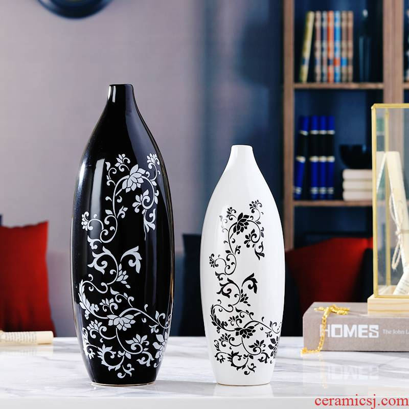 Creative ceramic home wine ark, adornment furnishing articles of modern living room TV cabinet vase floral room craft gift