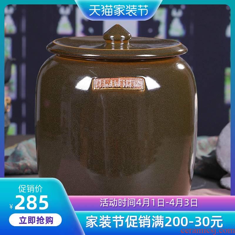 Jingdezhen ceramic tea cake tea pot POTS large POTS of tea pot of water storage tank ceramic POTS