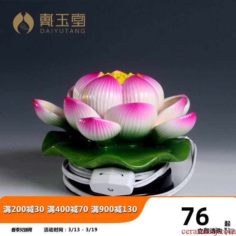 Yutang dai ceramic lotus lamp furnishing articles Buddha headlights long out for Buddha light leds lamp buddhist temple Buddha with supplies