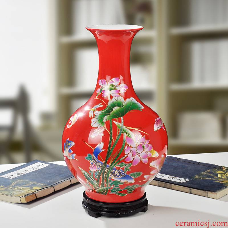 Jingdezhen ceramic large vases, flower arranging furnishing articles household act the role ofing is tasted I and contracted liliaceous bottle decoration decoration