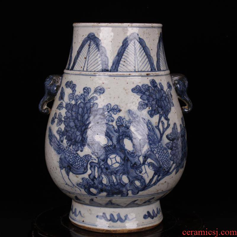 Jingdezhen antique reproduction antique collection happy old items hand - made porcelain statute of Chinese style classical decoration furnishing articles