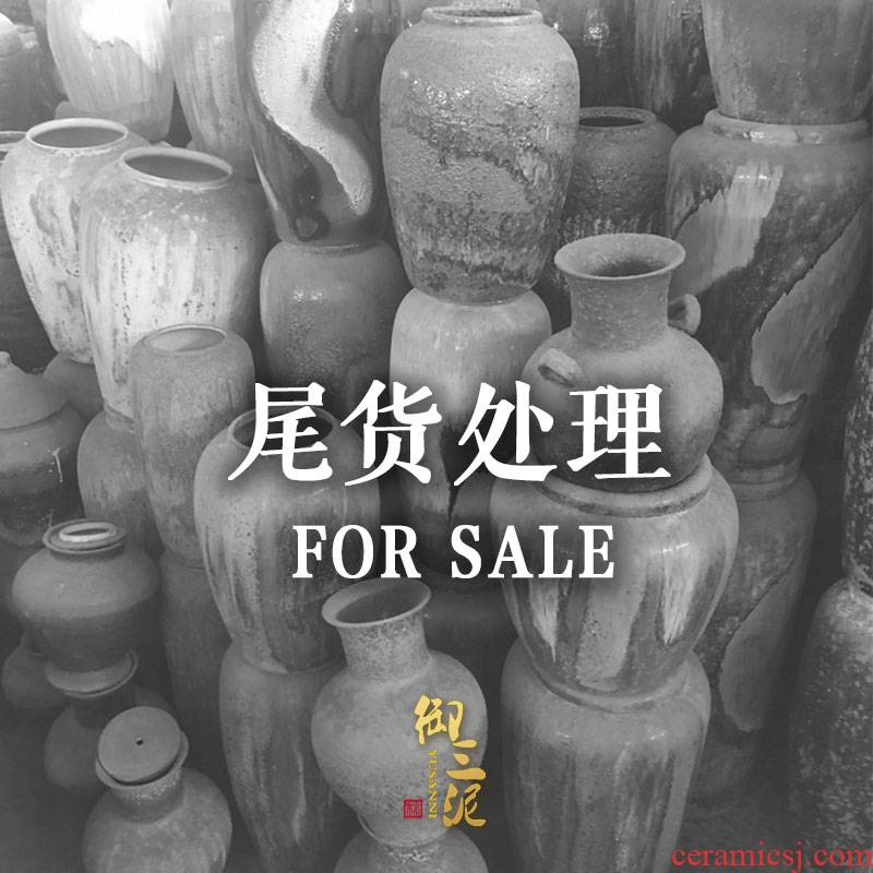 Jingdezhen ceramic landing clearance vase sitting room dry flower is placed to restore ancient ways produce in arranging flowers flower garden decoration