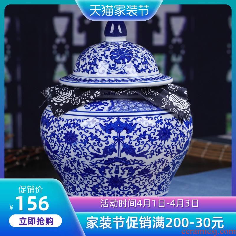 Jingdezhen ceramics pu 'er tea pot gift box packaging medium POTS with moistureproof ceramic seal can restore ancient ways