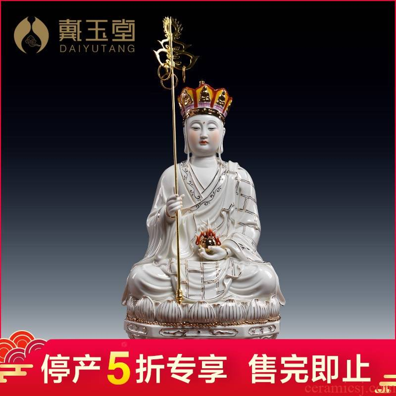 Household ceramics production 5 fold 】 【 earth treasure of Buddha enshrined that occupy the home furnishing articles by GuLian like ksitigarbha bodhisattva